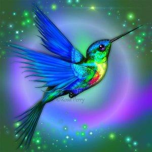 hummingbird_blue_by_serafina_rose-d5zj7vk